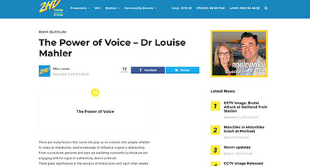 2HD: The Power of Voice – Dr Louise Mahler