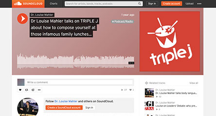 Dr Louise Mahler talks on TRIPLE J about how to compose yourself at those infamous family lunches