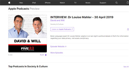 David and Will: Dr Louise Mahler Interview