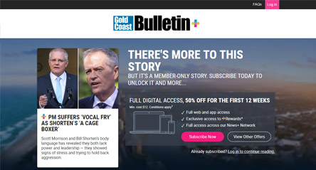 Gold Coast Bulletin: PM Suffers 'Vocal Fry' as Shorten's 'A Cage Boxer'