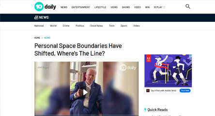 10 Daily News: Personal Space Boundaries Have Shifted, Where's The Line?