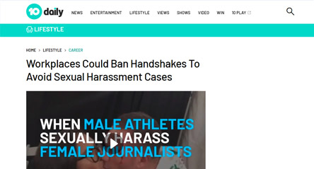 10 Daily News: Workplaces Could Ban Handshakes To Avoid Sexual Harassment Cases
