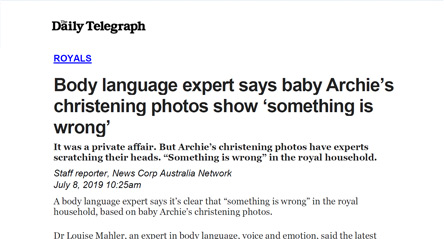 Body language expert says baby Archie's christening photos show 'something is wrong'