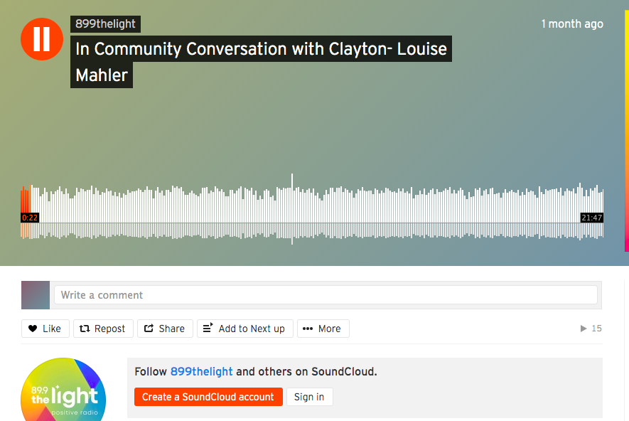In Community Conversation with Clayton- Louise Mahler