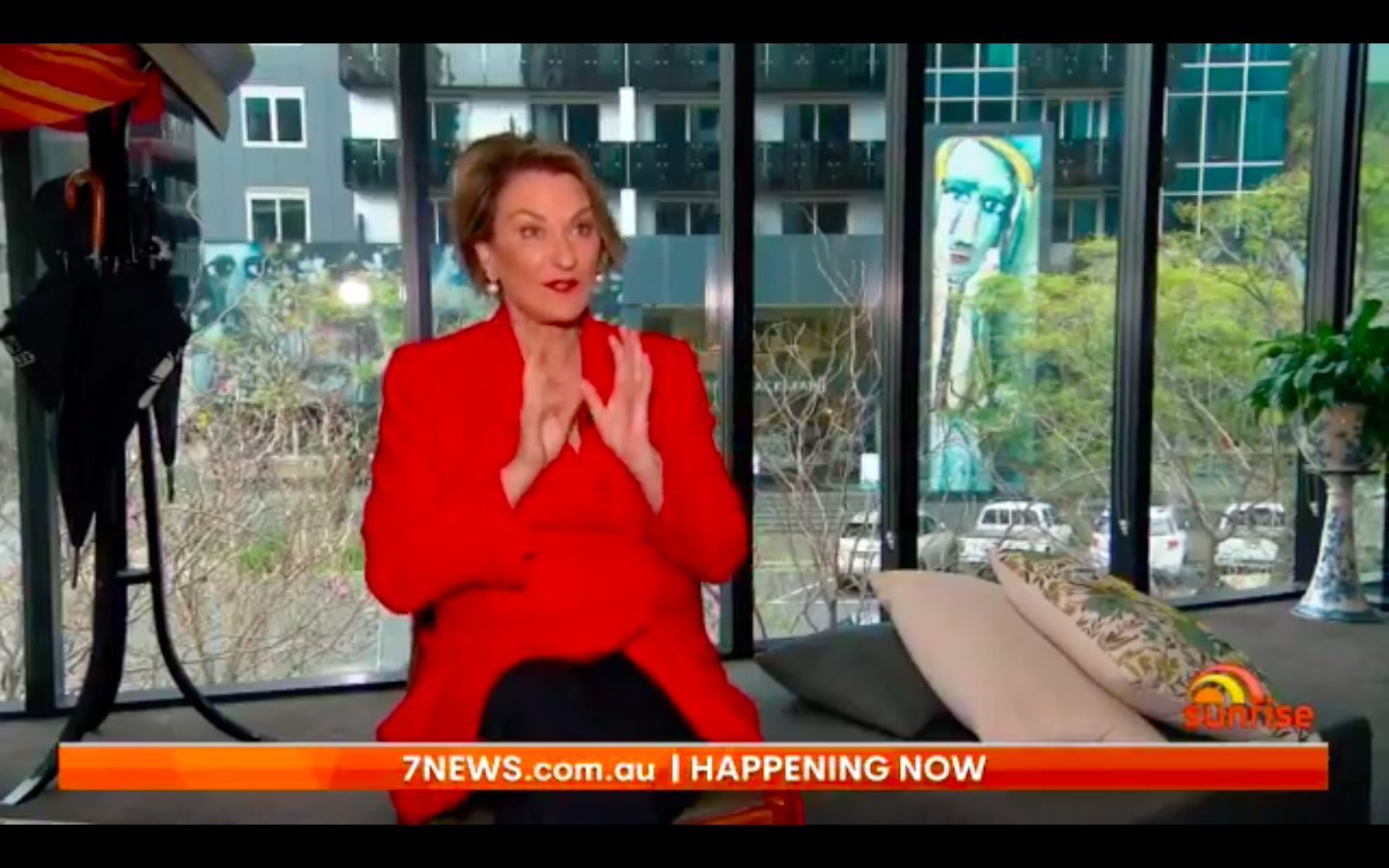 Louise Mahler on Sunrise