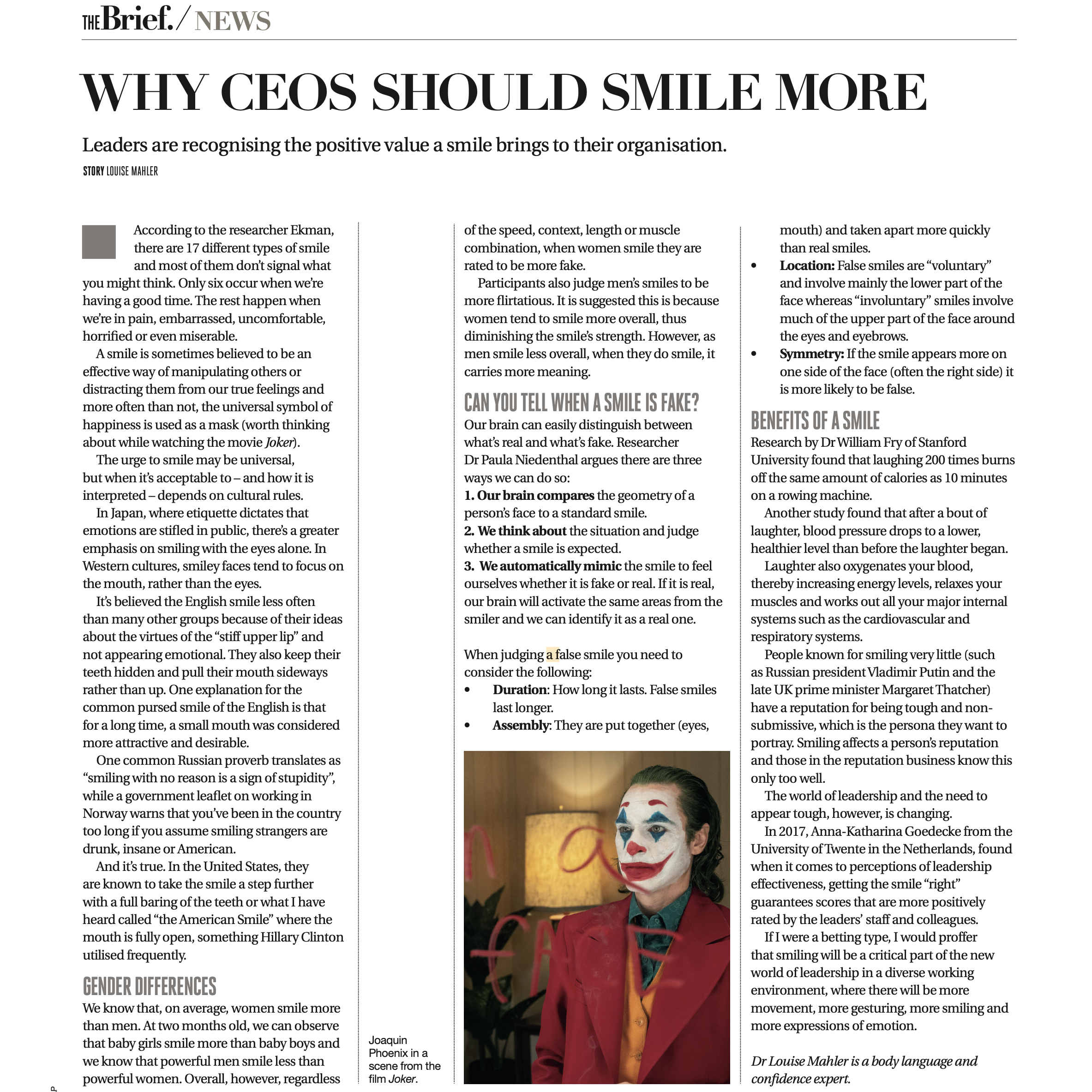 The Brief – Why CEOs should smile more